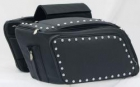 13322 Expandable trow-over saddlebags studded 13322