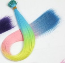 Hair extension rainbow 1st