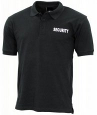 Zwarte security polo